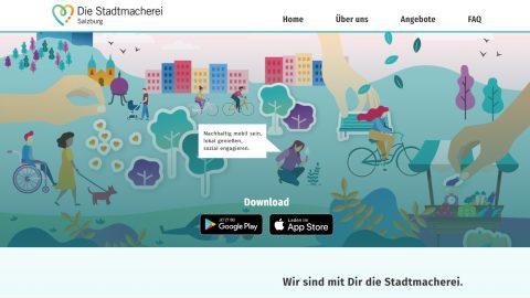 Neue Nachhaltigkeits-App: Stadtmacherei Salzburg