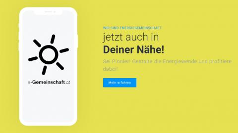Erste Erneuerbare-Energie-Gemeinschaft Österreichs am Netz